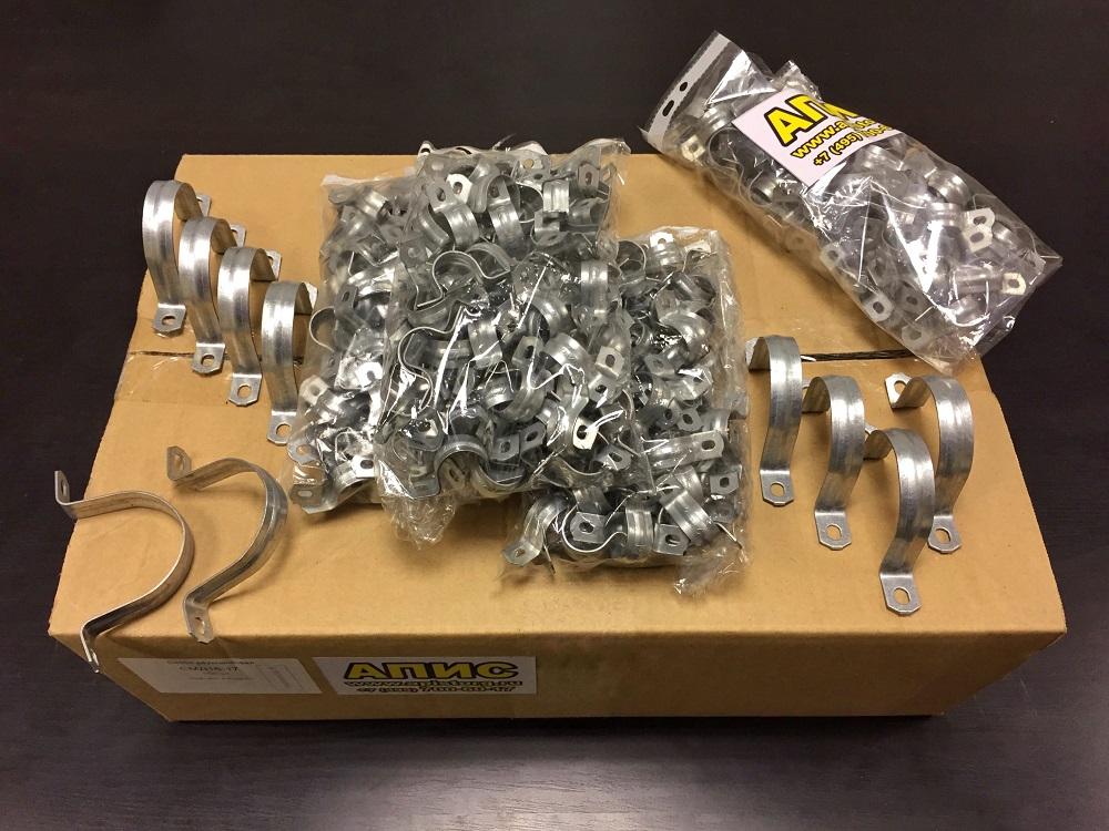 Cкоба металлическая двухлапковая (™АПИС)